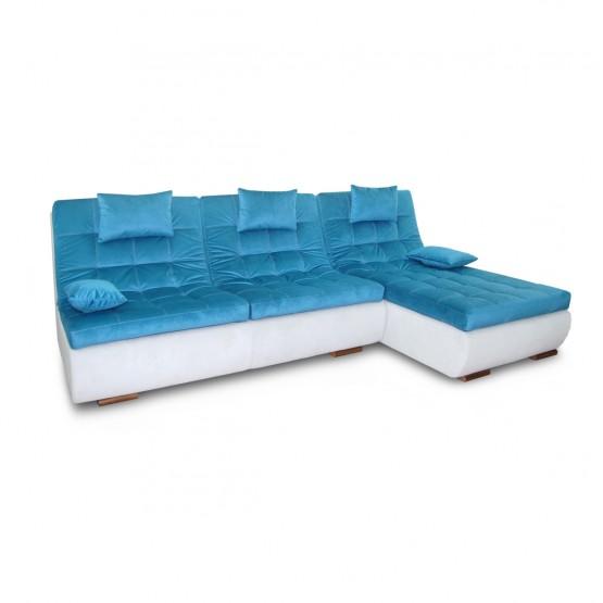 """Кутовий диван Nota """"Орландо"""" з отоманкою (пума) 2 подушки"""