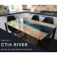 """Кухонный стол в стиле лофт """"River"""""""